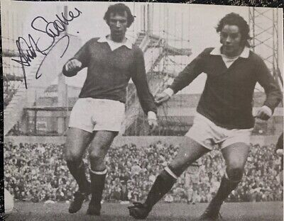 Signed David Sadler Manchester United 1970s Football Autograph European Cup 1968