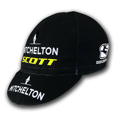 MITCHELTON SCOTT 2019 PRO CYCLING CYCLE TEAM BIKE SUMMER HAT CAP - Made Italy