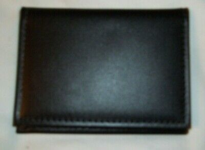 STRONG Black Leather Bifold Badge ID Wallet Shield Model 86900 Shape 019