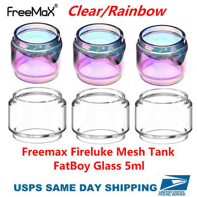 3PCS Fireluke Mesh Tank Replacement Extended Glass 5ml | US SHIPPING
