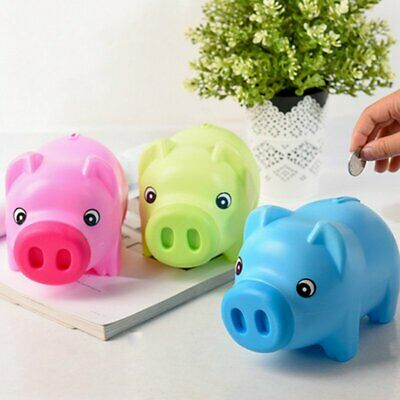 Toy Kids Gift Coin Money Save Openable Box Cash Tin Piggy Bank Plastic Cute JU
