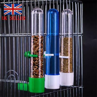 Pet Bird Parrot Drinker Food Feeder Water Clip Bowl Cage Feeder Supplies Tube UK