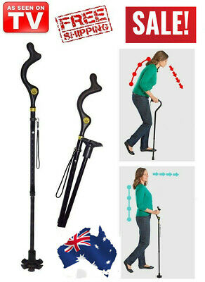 Campbell Posture Cane - Walking Cane with Adjustable Heights, As Seen on TV, Me