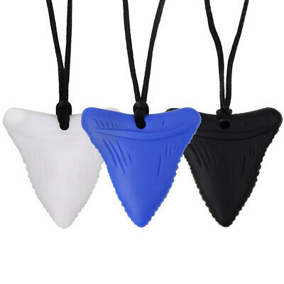 Shark Tooth Sensory Chew Necklace for Kids Teething Toy Autism Teether