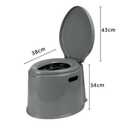6L Outdoor Portable Toilet Camping Potty Caravan Travel Tent Hiking Camp Boating