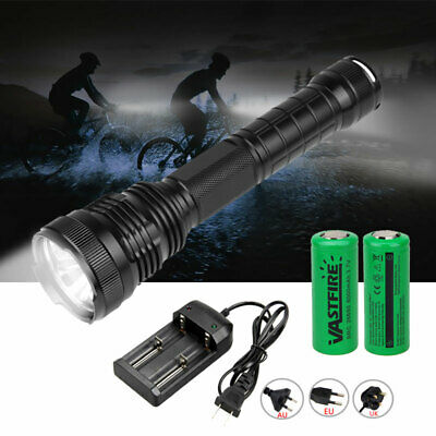 Super Powerful LED Flashlight 3*XHP50 Tactical Torch USB Rechargeable Linterna