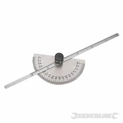 Silverline Protractor with Depth Gauge Scale 150mm 783181