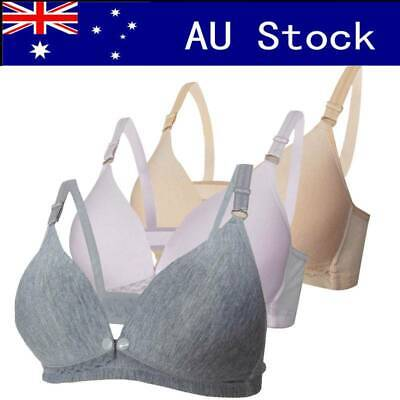 Maternity Women Bra Buckle Nursing Bra Breastfeeding Pregnant Brassiere Bra AU