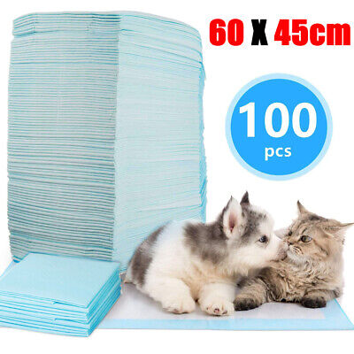 100PC Puppy Pads Dog Pet Toilet House Training 60x45cm Wee Potty Pee Mats Cat bR
