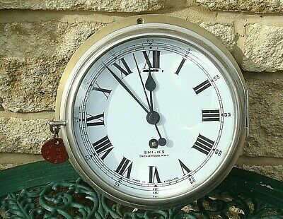 Vintage Rare 1920'S Smith's Cricklewood.n.w.2. Enamel Dial  8 Day Ships Clock