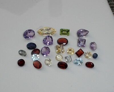 Natural Gemstone Mixed Faceted Loose Parcel Lot 25 Total Carats