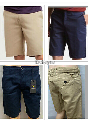Lyle & Scott Chino Cargo Shorts For Men In Three Colours