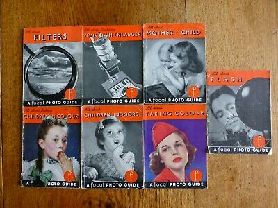 Focal Guide (All about) Collection of 7 Books. c 1950