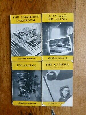 Photofacts. Guide- Books. Collection of 4 books, c 1950