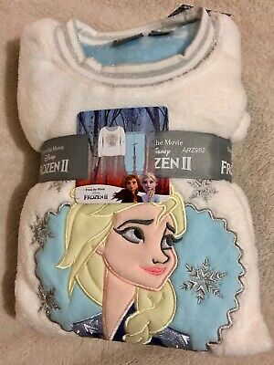 Primark Disney Frozen II 2 Elsa Girls Pyjamas PJ's age 2-10 Fleece Chrismas