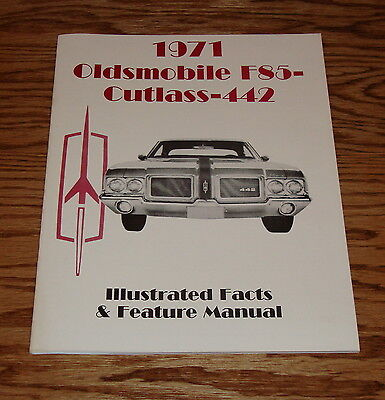 1971 Oldsmobile Cutlass 442 Illustrated Facts Feature Manual Brochure 71