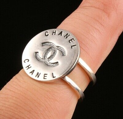 Unique China 925 Silver Hand-Carved Ring Lady High-End Gift Collection Old