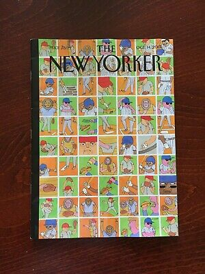 THE NEW YORKER Magazine October 14, 2019 Inside Baseball NEW No Label