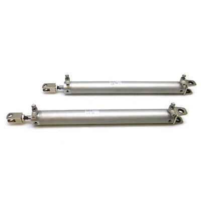 (Lot of 2) SMC Pneumatics CG1DN32-300 Double Acting Round Body Air Cylinders
