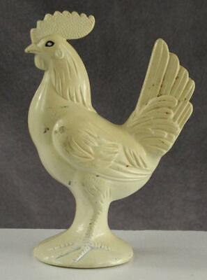 """Vintage Two Part Hard Plastic Molded Chicken Rooster Toy Child Baby Rattle 3.75"""""""