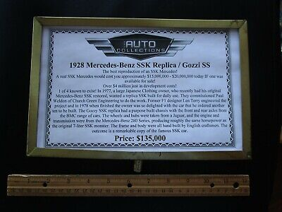 Brass Stanchion Sign Las Vegas Auto Collections Linq Casino Hotel Mercedes Ssk