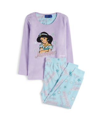 Disney Aladdin Princess Jasmine Pyjamas Pj's Girls Primark Age 1-10 soft fleece