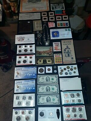 coin LOT big collection MINT SETS proof train STAMPS jewelry  $2 =NO JUNK DRAWER