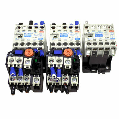 (Lot of 3) Mitsubishi SD-Q11 Magnetic Contactors w/ (2) TH-N12KP Thermal Relays