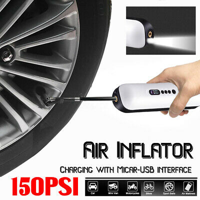 12V Portable Air Pump Cordless Air Electric Tire Inflator Auto Car Bike
