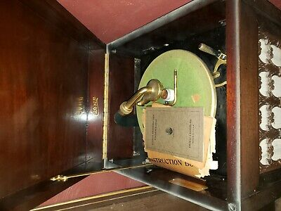 Antique Edison Diamond Disc Phonograph machine cabinet pat 1916