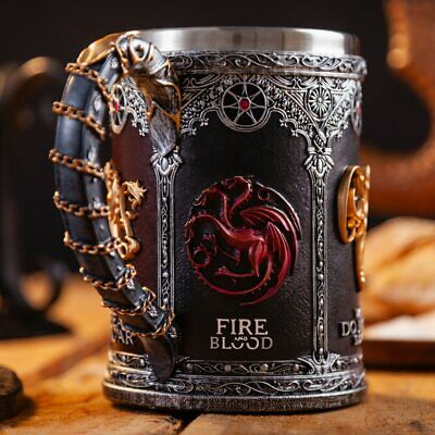 Game of Thrones Mug Goblet Stainless Steel Resin 3D Beer Tankard Coffee Cup