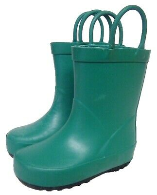 KIDS Boys/Girls Plain Green Wellington Wellies Mucker Boots UK Size 11/12
