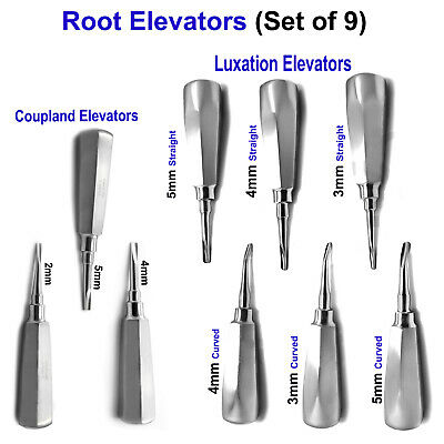Root Elevators Tooth Losening & Extracting Luxating Oral Surgery Elevators