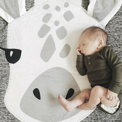 Kids Baby Soft Plush Floor Mat Gym Play Game Rug Activity Crawling Blanket