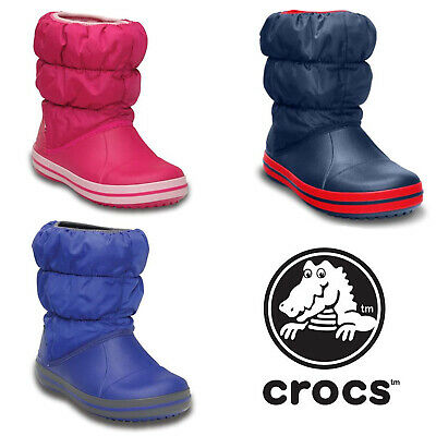 Crocs Winter Puff Warm Lined Snow Soft Fashion Kids Infants Boot Size 6-3