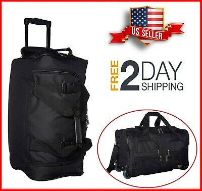 """NEW 22"""" Traveler Carry-on Rolling Luggage Suitcase Wheeled Duffle Bag Tote Bag"""