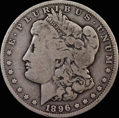 United States 1896-O New Orleans Silver Morgan Dollar  Very Good