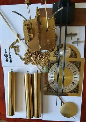 Hermle clock movement 451-050H With Weights,Chiming bars Dial ,Hands,Pendulum.