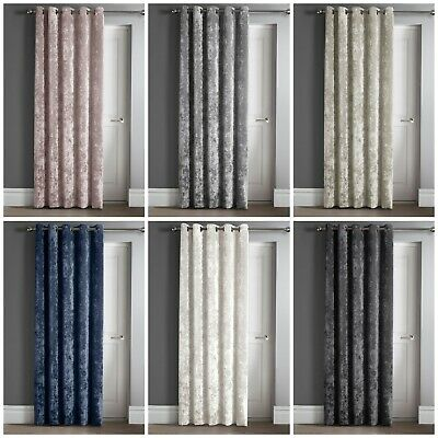 Luxury Crushed Velvet Eyelet Ring Top Eyelet Door Panel Curtain