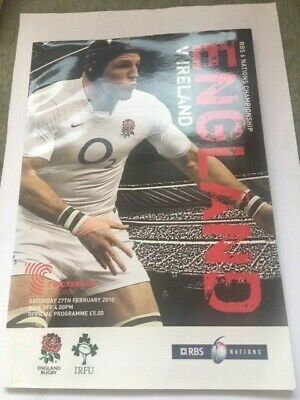 England v Ireland 6 Nations Rugby Union Programme 2010
