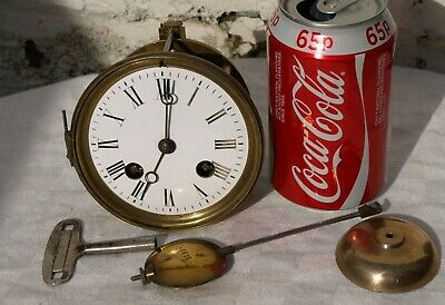 Japy Freres K&G Clock Movement Bezel Pendulum Bell - Spares Or Repairs Only