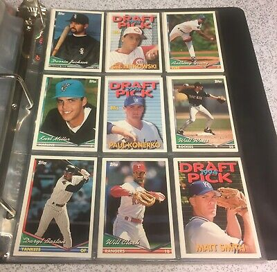 1991, 1992, 1993, 1994 Topps Traded complete sets in Ultra Pro pages RCs MINT
