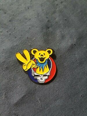 Steal Your Face Peace Bear pin. Grateful Dead