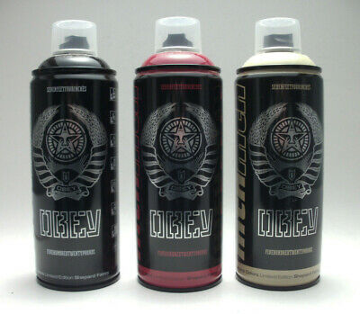 Shepard Fairey OBEY x MTN Montana Limited Edition 3 Spray Can Set 2012