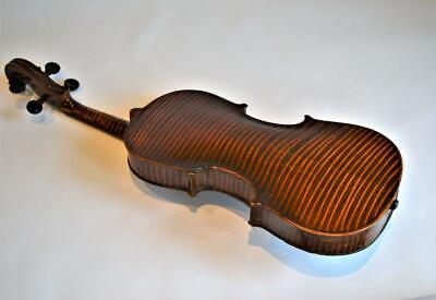 OLD ANTIQUE Tiger Stripe VIOLIN & BOW with Case ~ 4/4 FULL SIZE