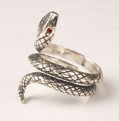 China 925 Silver Hand Carving Snake Ring Exclusive Custom Gift Collec