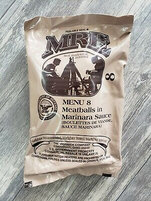 Single MREs Meals 2019 Meals Ready To Eat US Military MRE