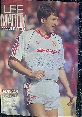 Signed Lee Martin Manchester United FC Football Autograph Poster 1990s