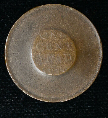 Love Token Canada 1918? Bronze Preped Smoothed Circle on reverse Large Cent