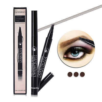 Eyebrow Tattoo Pen with a Micro-Fork Tips Long-lasting #4 Dark Brown